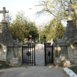 Stock Photo: Entry of graveyard