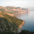 Coast of the Black sea in the evening — Stock Photo
