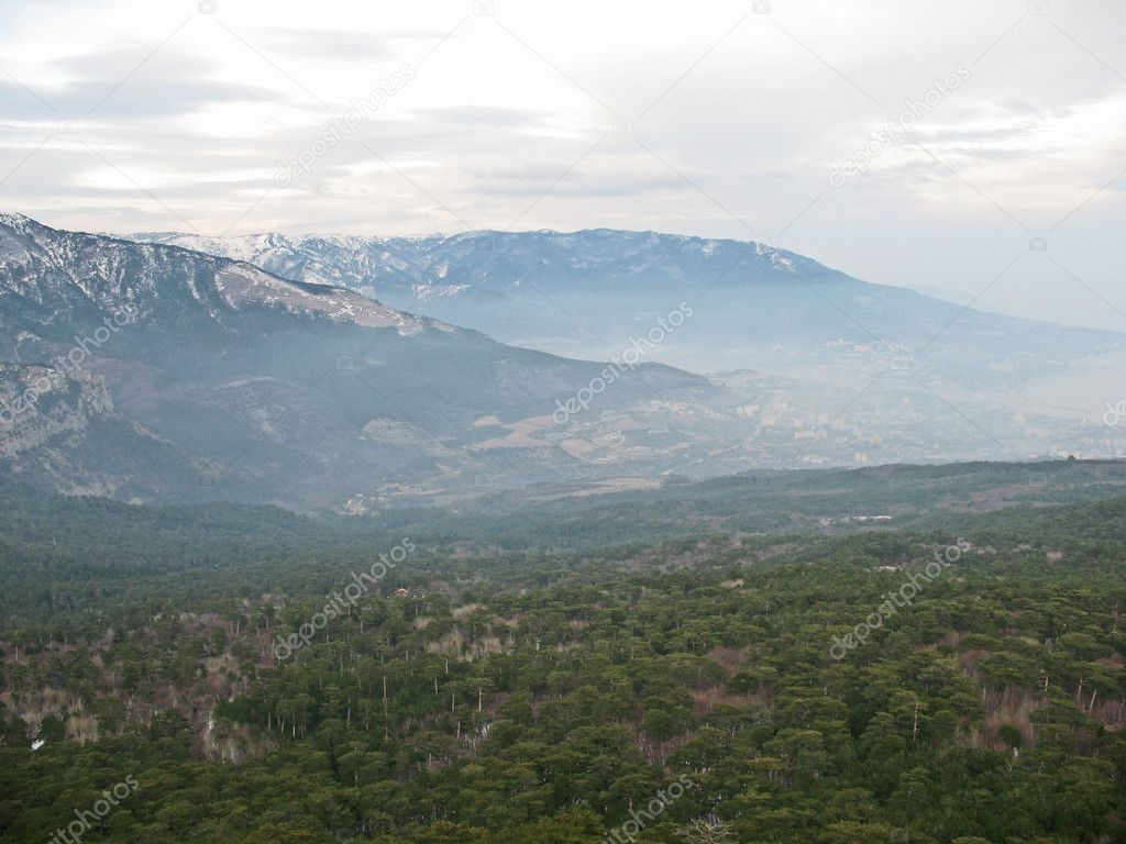 Mountains in haze, Crimea, Ukraine  Stock Photo #1700240