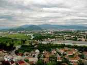 View on Mukachevo town — Stock Photo