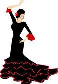 Dancing flamenco girl — Stock Vector