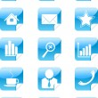 Royalty-Free Stock Vector Image: Blue web icons stickers  symbol set
