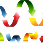 3D arrow set colorful — Stock Vector