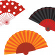 Vector set spanish fan illustration — Stock Vector