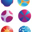 Logo element sphere — Stock Vector