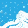 Woman winter. Vector illustration — Stock Vector