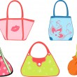Royalty-Free Stock Vector Image: Set woman\'s bags