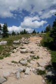 Rocky path in mountains — Stock Photo