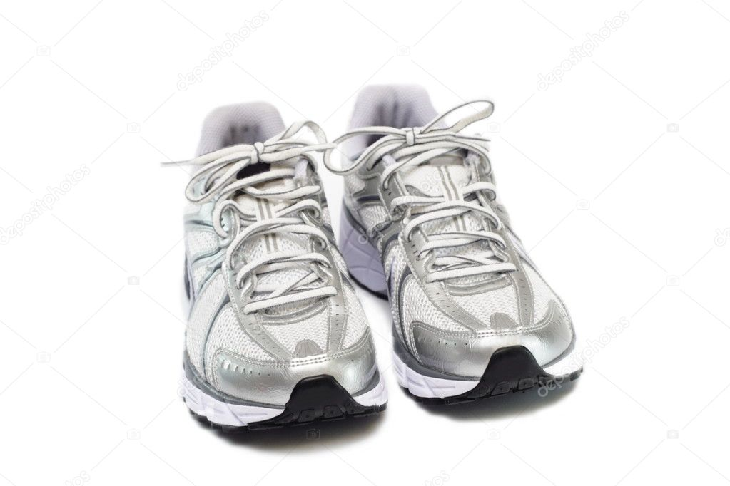 Pair of running womans shoes isolated on white background  Stock Photo #1883093