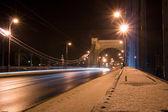 Suspension bridge at night — Stock Photo