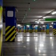 Stock Photo: Underground parking garage