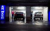 Car wash in underground parking garage — Stock Photo