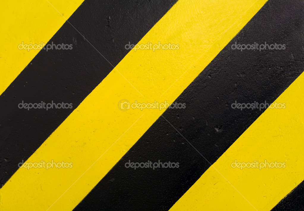 Black and yellow stripes. Under construction texture or background — Stock Photo #2555785