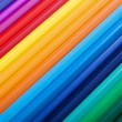 Colorful pencils - background - Stock Photo