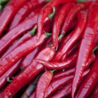 Hot Red peppers background - Stock Photo