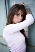 Ung vacker kvinna — Stockfoto