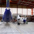 Stock Photo: Maintenance hangar.
