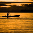 Fisherman at dusk - Foto de Stock