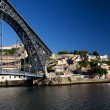 Porto View with D. Luis Bridge - Stock Photo