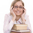 Young woman with books — Stock Photo #2449648