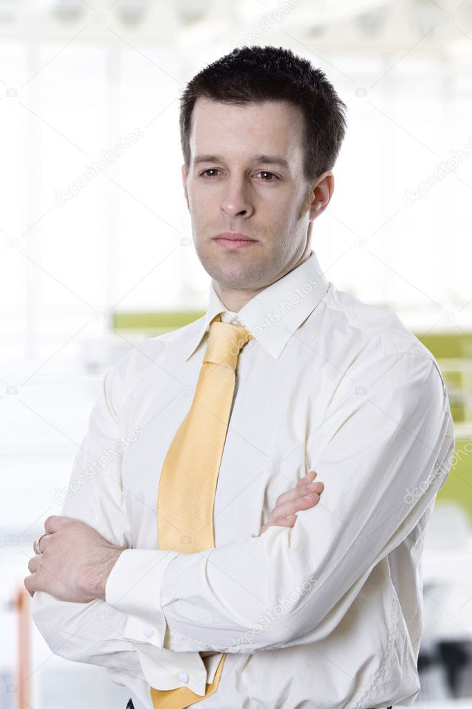 Portrait of confident young business man  Stock Photo #2450076
