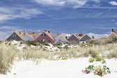 Typical beach houses — Stock Photo