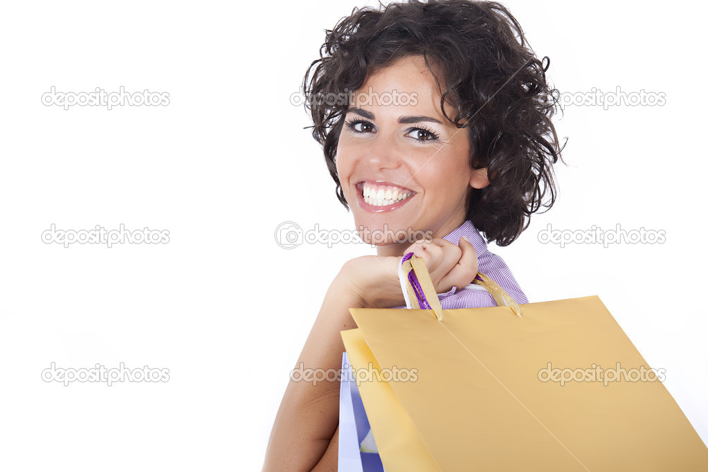 Young women after shopping  Stock Photo #2521990