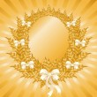 Christmas gold wreath - Imagen vectorial