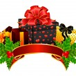 Royalty-Free Stock Vektorový obrázek: Beautiful gifts with a bow
