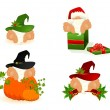 Royalty-Free Stock Vector Image: Set of  nice santa Clauses