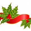Stock Vector: Christmas red ribbon