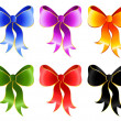 Stock Vector: Varicoloured festive bow