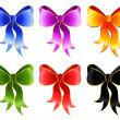 Varicoloured festive bow — Stock Vector