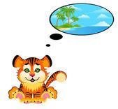 Hermoso tigre — Vector de stock