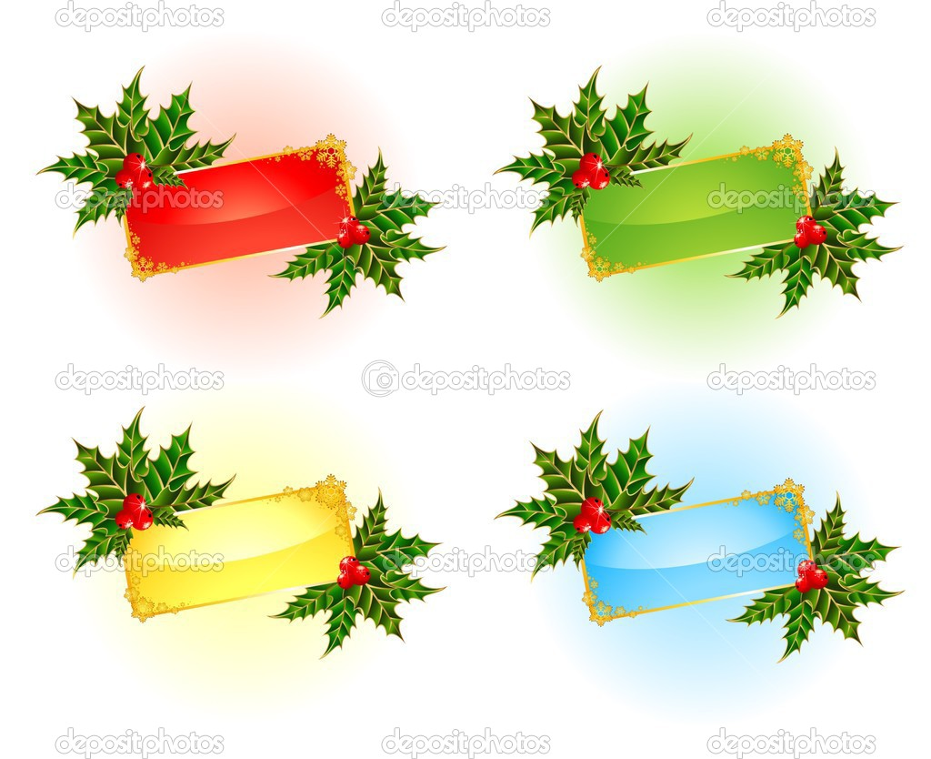 Set of beautiful christmas backgrounds — Stock Vector #1654794
