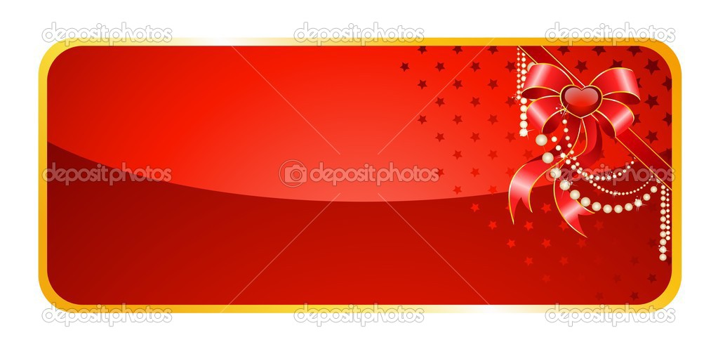Beautiful christmas background with bow — Stock Vector #1654917