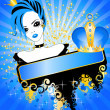 Girl-queen of emo — Stock Vector #1682932