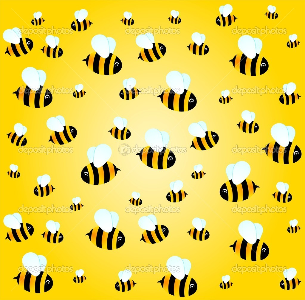 Background with funny bees — Stock Vector © Forewer #1682094