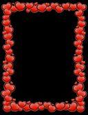 美丽的红色心脏 — 图库矢量图片