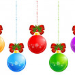Royalty-Free Stock Vector Image: Set of christmas balls