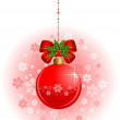 Christmas red ball - Stock Vector