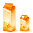 Stock Vector: Design of packing milky products