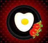 Fried eggs — Stock Vector
