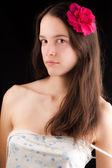 美しい少女との portret、 — ストック写真