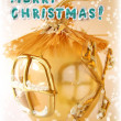 Merry christmas greeting card - Stock Photo