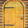 Fairy tale wooden door — Photo