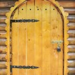 Fairy tale wooden door — Stockfoto