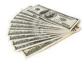 Stack of $ 100 bills — Stock Photo