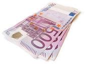 Stack of eur money — Stock Photo