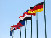 European countries flags — Stock Photo